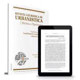 Rivista Giuridica di Urbanistica - Trimestrale di giurisprudenza, dottrina e legislazione